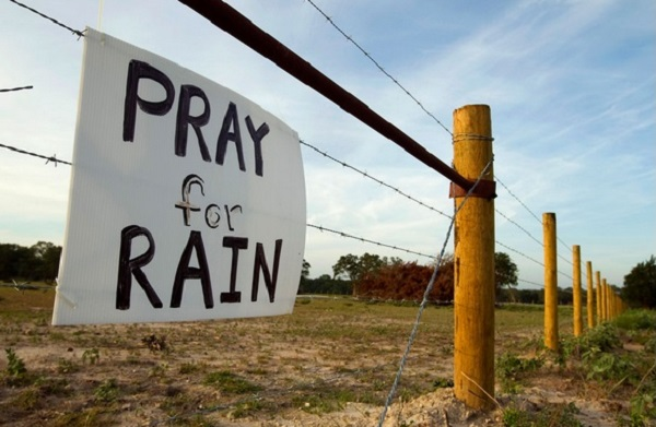 Religious leaders gathered for prayer in the face of a major drought