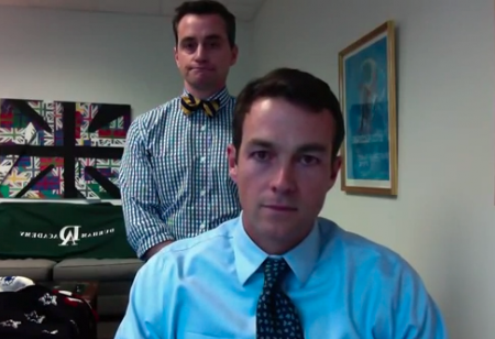 School Principals Competing for Viral Videos of School Closings (Video)