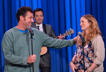 Drew Barrymore and Adam Sandler Sing Decade Duet (Video)