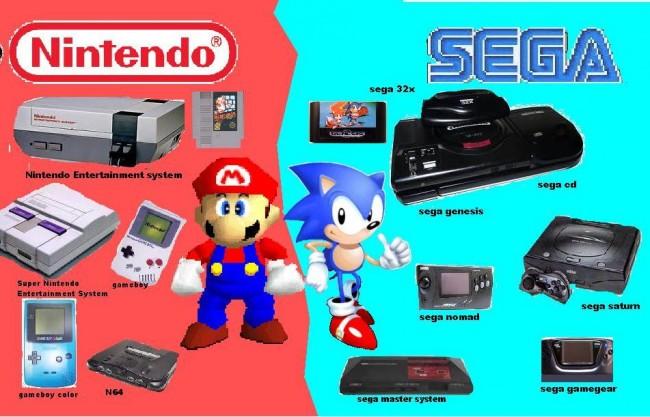 Sega Nintendo Console War 90's