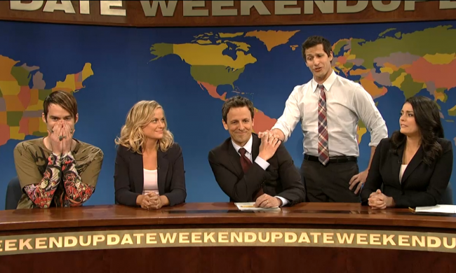 Seth Meyers, Amy Poehler, SNL, Weekend Update
