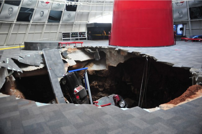 Sinkhole Opens Under Corvette Museum and Swallows Eight Cars