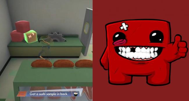 Super Meat Boy chunks found in Gervason's Deli1