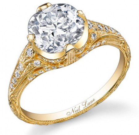 The 3.5 carat engagement ring Cyrus kept