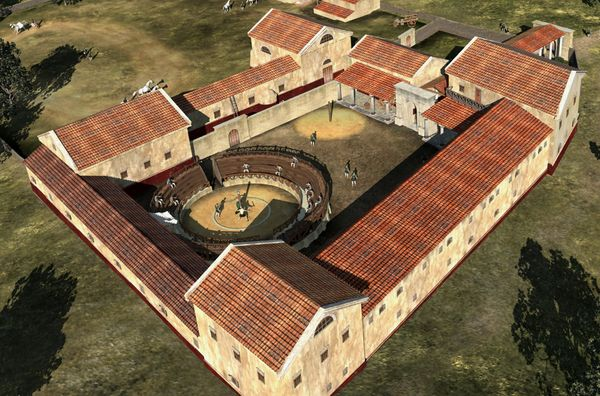 Roman Gladiatorial School Discovered in Austria