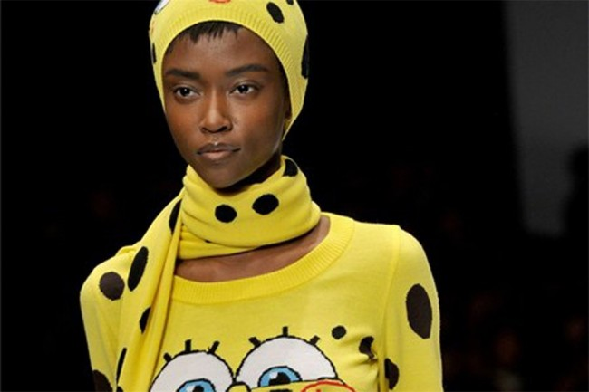 Moschino Show Mingles McFashion with Fast Food and Cartoons