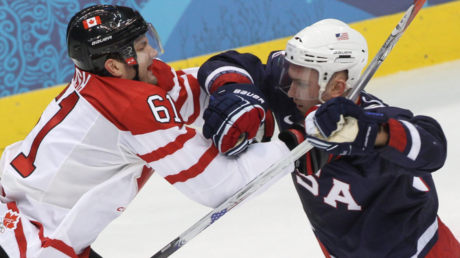 Ice Hockey: USA Canada Olympic Showdown