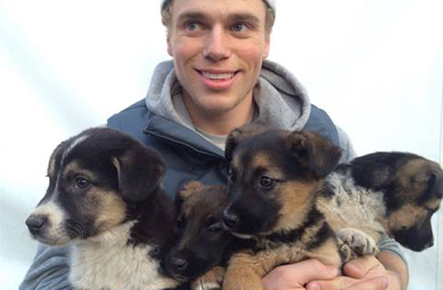 Valentines Puppy Love As Well as Silver for Gus Kenworthy in Sochi