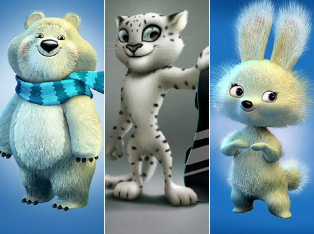 Sochi Mascots Are Ready for Action