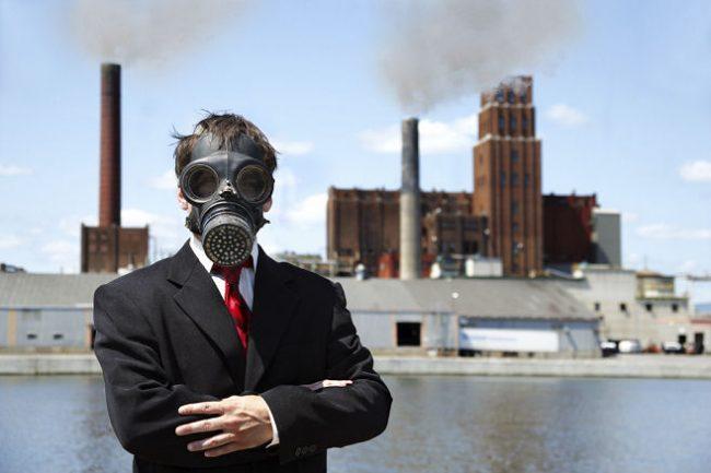 air pollution men