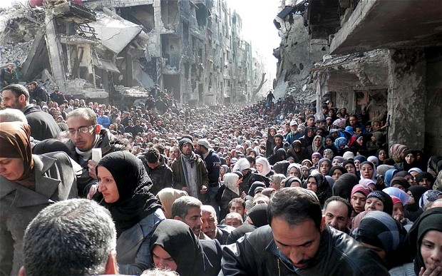 Yarmouk's Queue of Desperation as Syria Siege City Gets Trickle of Aid