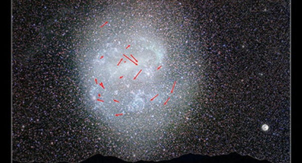 NASA Hubble Space Telescope Measures Rotation of LMC Galaxy