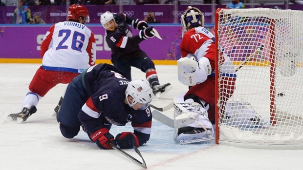 U.S. and Russia Hockey
