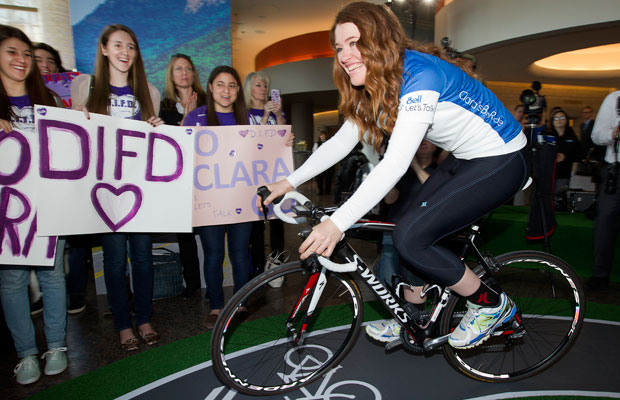 Clara Hughes, Olympian, Pedaling for Mental Health Awareness
