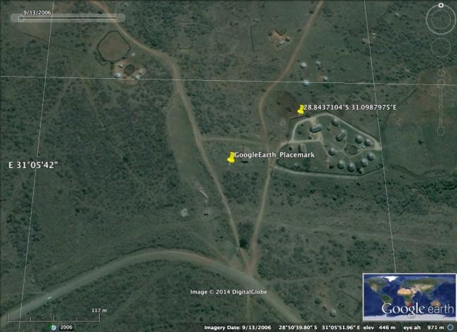 Jacob Zuma Nkandla 2006 Google Earth