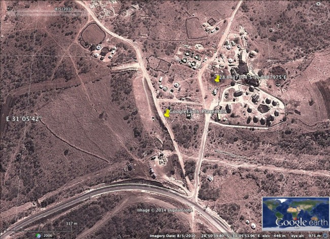 Jacob Zuma Nkandla Google Earth 2010