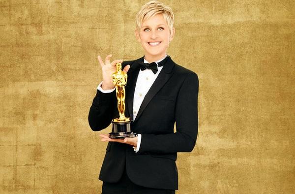 Ellen DeGeneres hosts the 2014 Oscars
