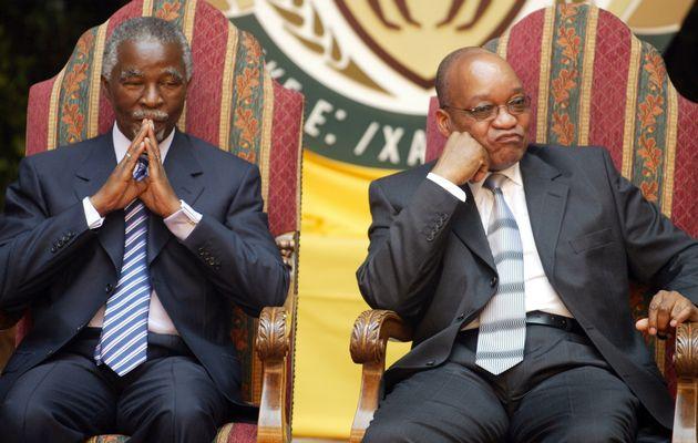 South Africa Mbeki and Zuma