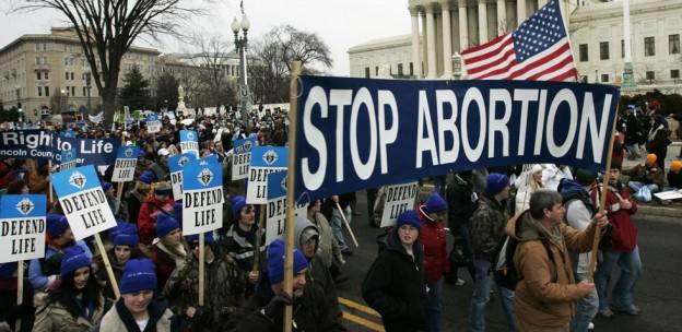 pro-life demonstrator