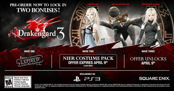 preorder Drakengard 3 bonuses