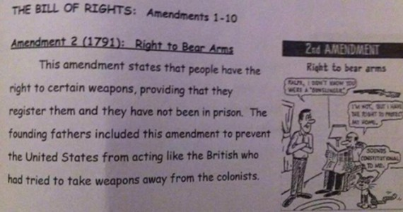 Second Amendment Redefined by Illinois School Workbook