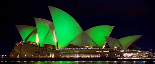 Whole World Goes Green for St Patrick's Day