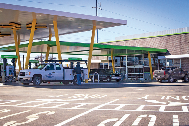 walmart opens first convenience store and gas station