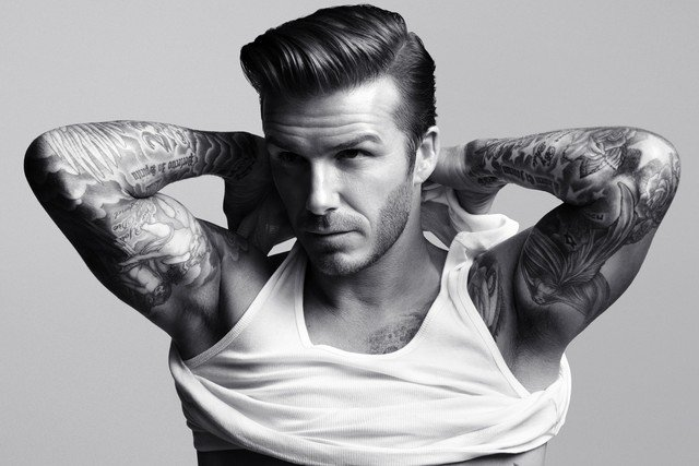 Beckham Goes Gray