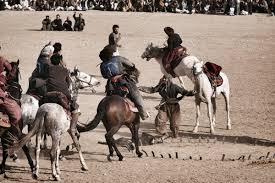 Asian sport of Buzkashi