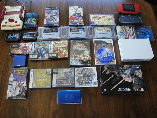 A complete collection of all Fire Emblem games