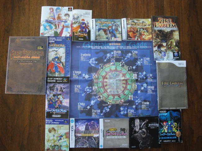 A complete collection of manuals from the Fire Emblem Series