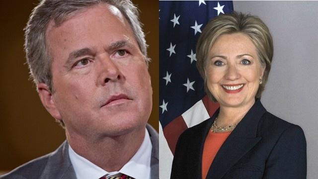 Hillary Clinton Jeb Bush 2016 Campaign