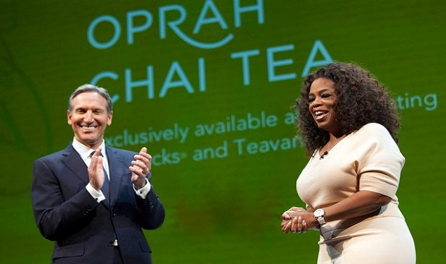 Oprah launches her own brand of  Teavana Chai Tea at Starbucks and Teavana Stores