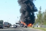 California: 9 Dead and up to 50 Injured in Fiery Bus Crash