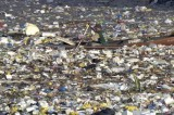 Plastic Trash Litters the Ocean