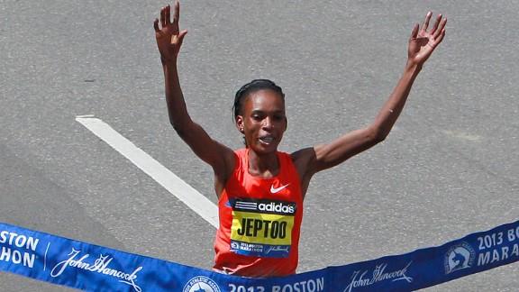 Rita Jeptoo Wins Women's Boston Marathon in 2:18:57