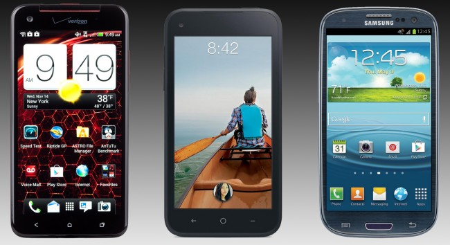 Samsung HTC iPhone Smartphone Battle Grounds