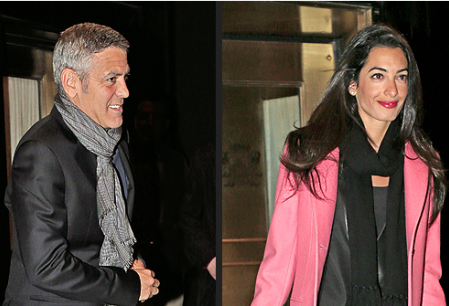 George Clooney Caught by Anne Hathaway Lookalike
