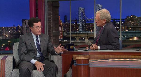 Stephen Colbert David Letterman Late Show