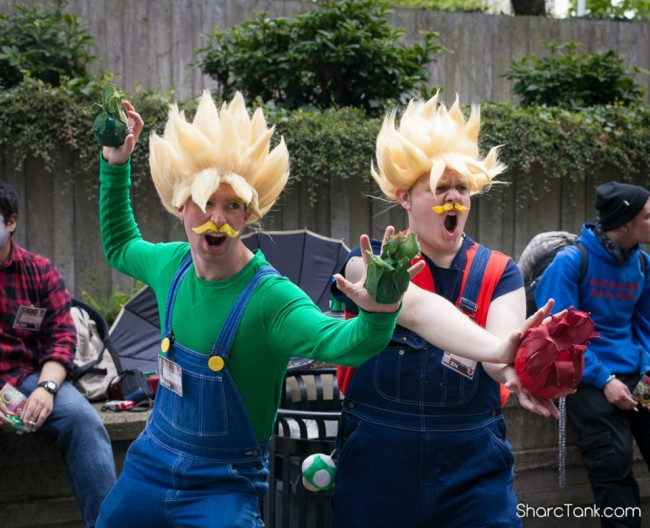 Super Sayian Mario and Luigi Sakura Con 2014