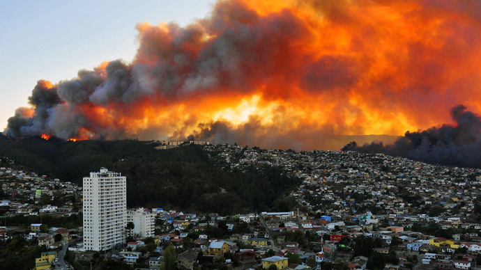 Chile City Nearly Destroyed by Fire