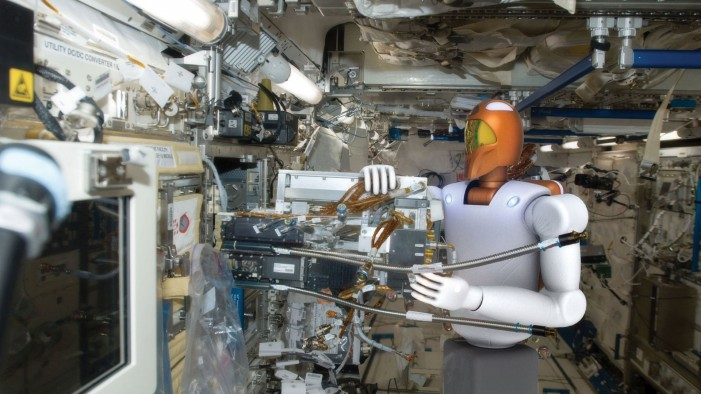 Space Surgery Robot Works Inside Astronaut