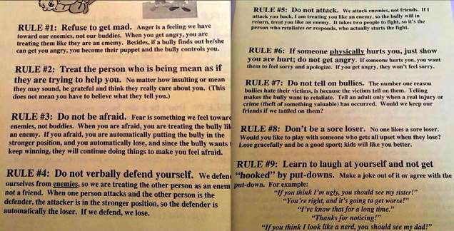 9 rules for handling bullies