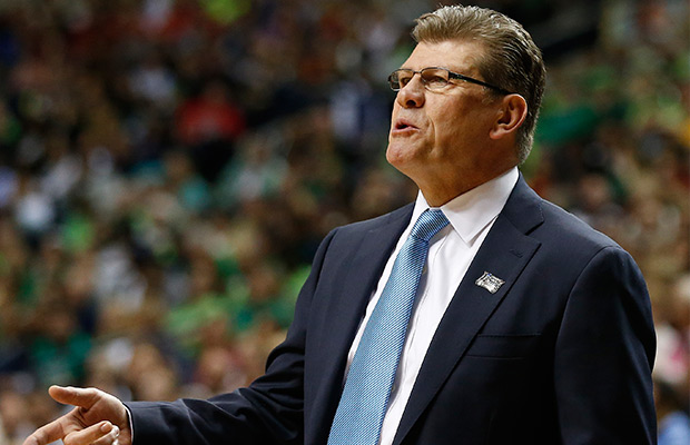 Geno Auriemma Arrives at Mount Rushmore