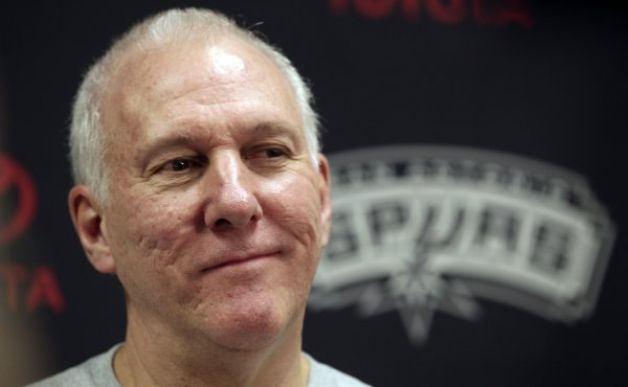 San Antonio Spurs Coach Greg Popovich Coach of the Year ...