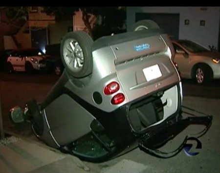San Francisco Smart Cars Flipped In New Form Of Vandalism