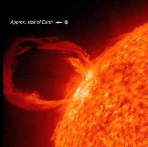 solar flare earth