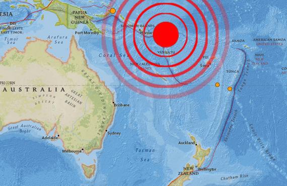 M7.6 Earthquake in the Solomon Islands