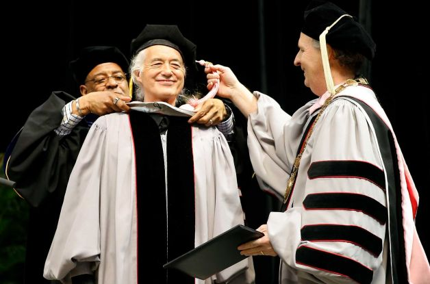 Jimmy Page of Led Zeppelin Presented With Honorary Doctoral Degree