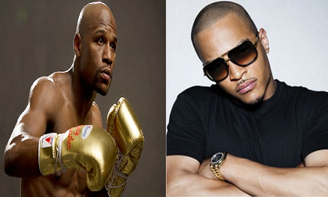 Mayweather and Harris upset restaurant while getting physical